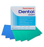 Коффердам 152 х 152 мм  - 36 шт, Dental Dam латексный, зеленый с ароматом мяты