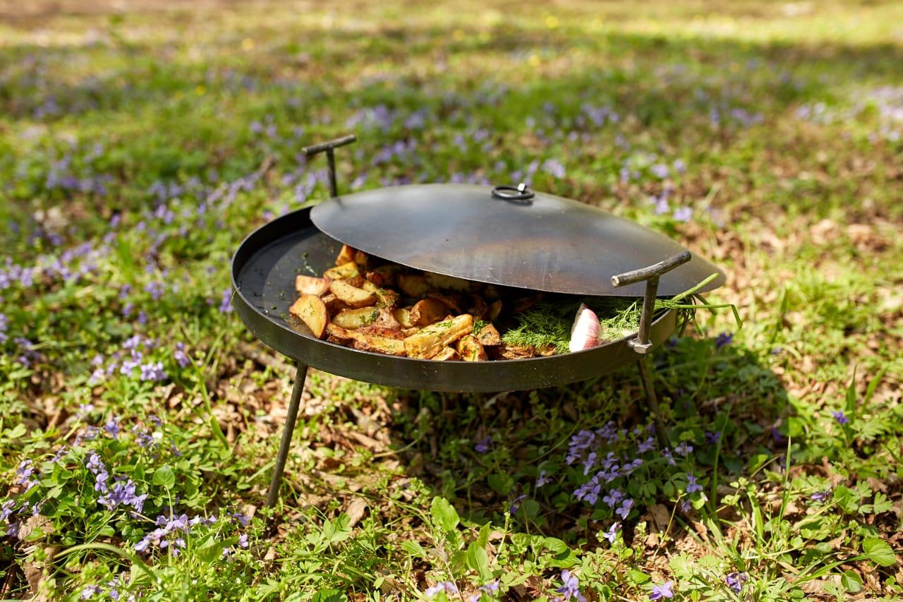Сковородка 50 см с крышкой Буковинка