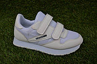 Детские кроссовки на липучках Reebok white р31-36, копия