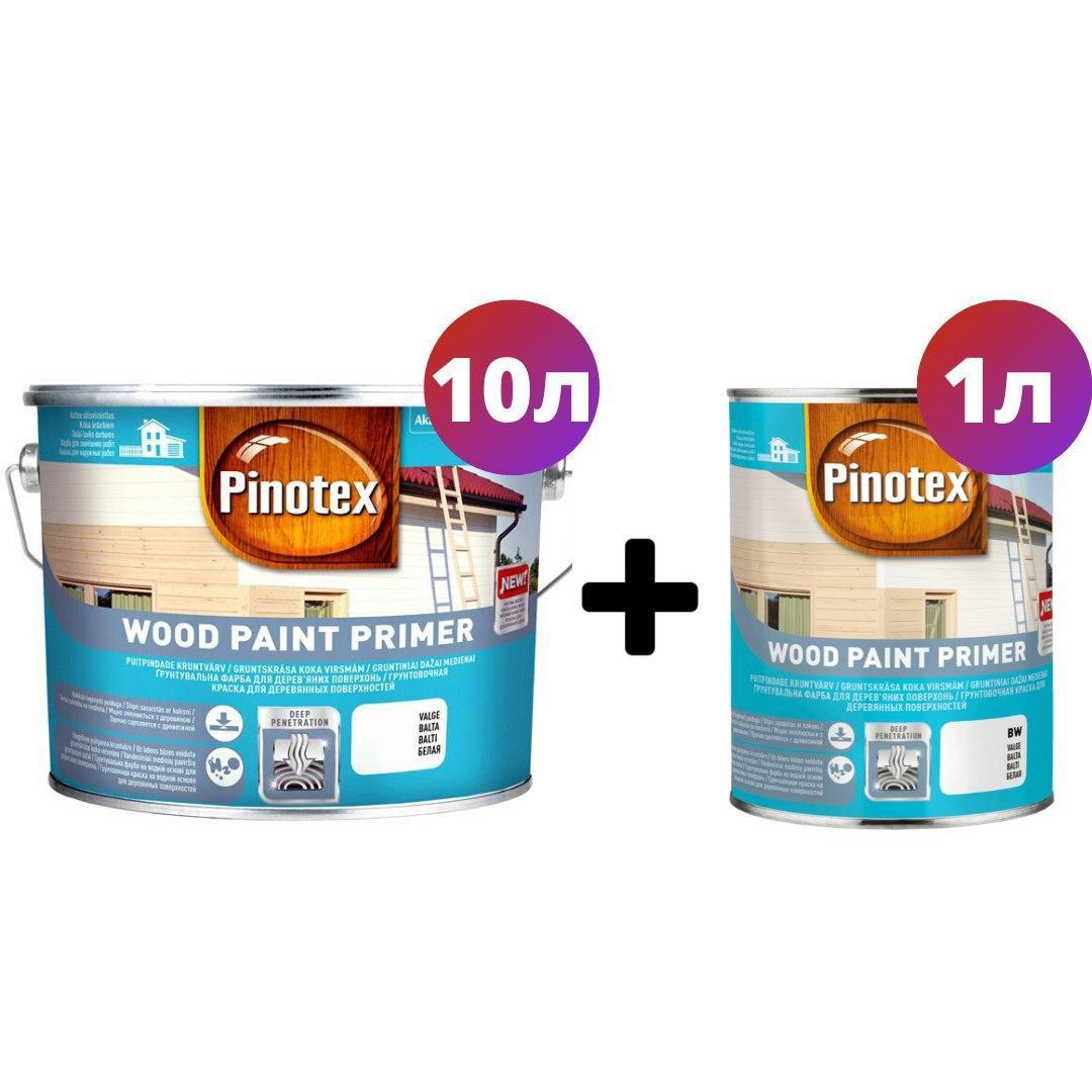 Алкидная грунтовочная краска Pinotex Wood Paint Primer 10л