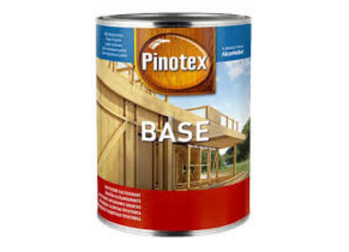 Грунтовка для защиты древесины Pinotex Base 1л (базовая пропитка)