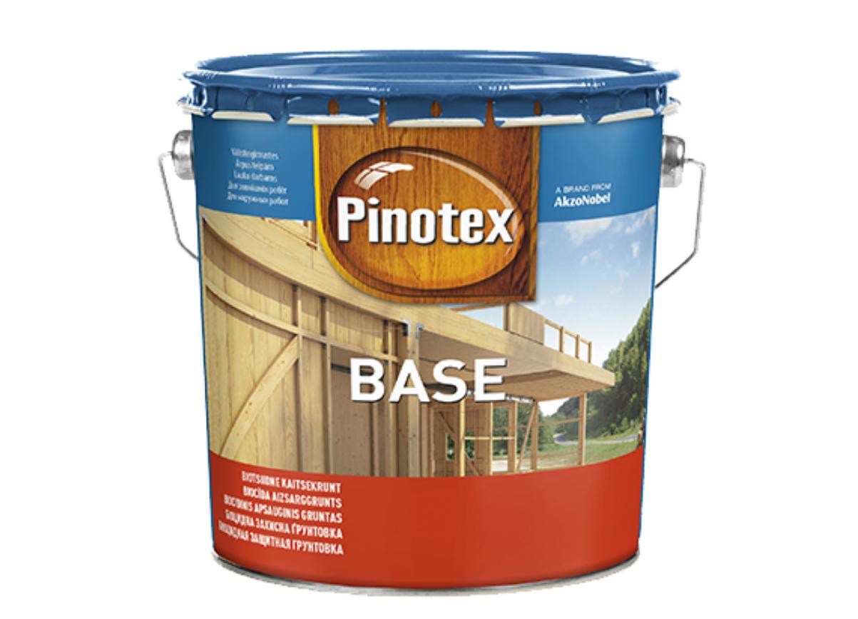 Грунтовка для защиты древесины Pinotex Base 3л (базовая пропитка)
