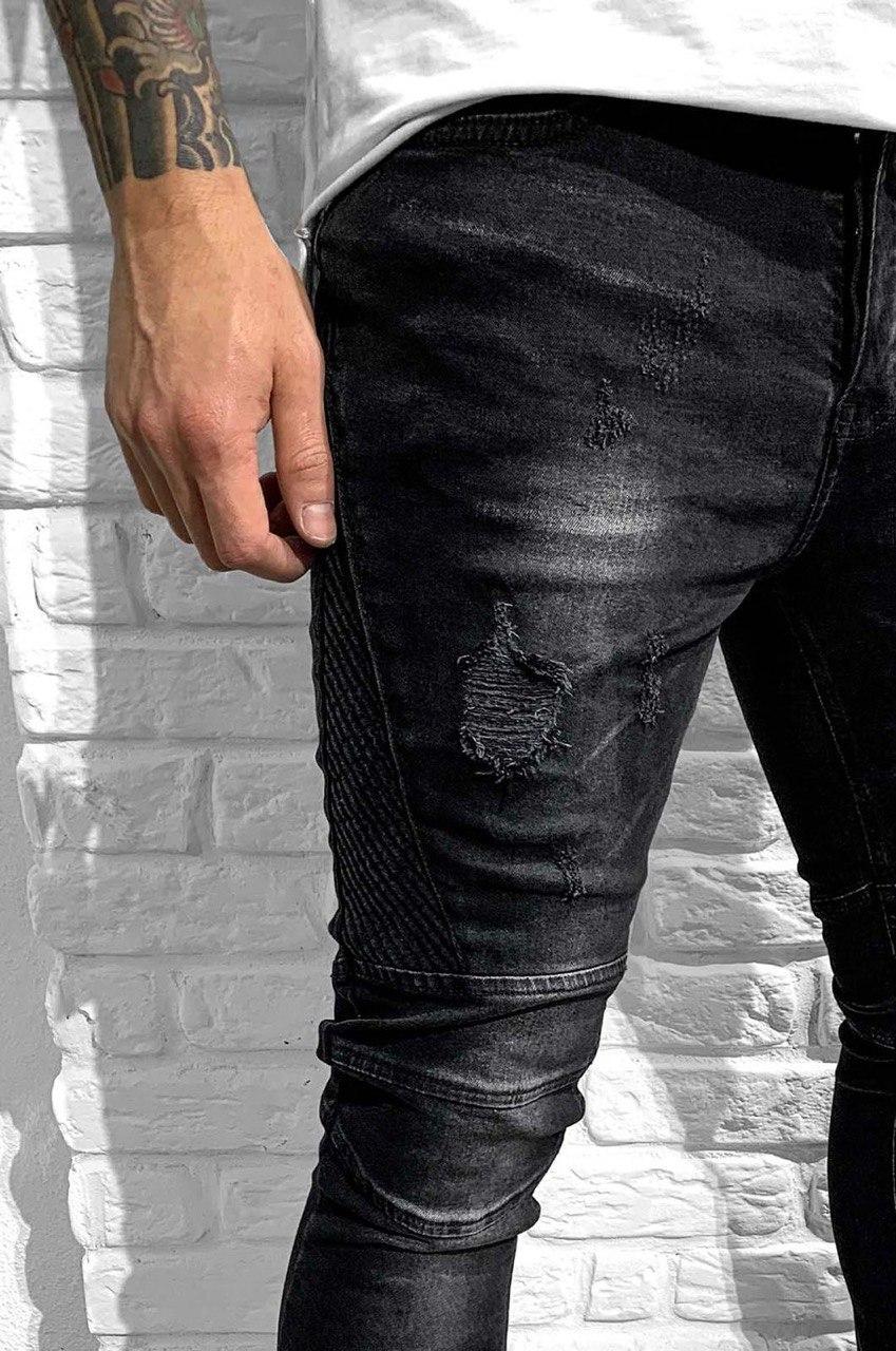 Джинсы - мужские черные оригинальные джинсы
