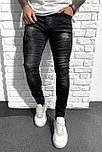 Джинсы - мужские черные оригинальные джинсы, фото 2