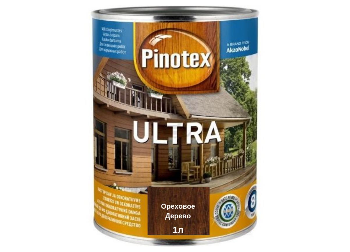 Деревозащитное средство Pinotex Ultra ореховое дерево 1л