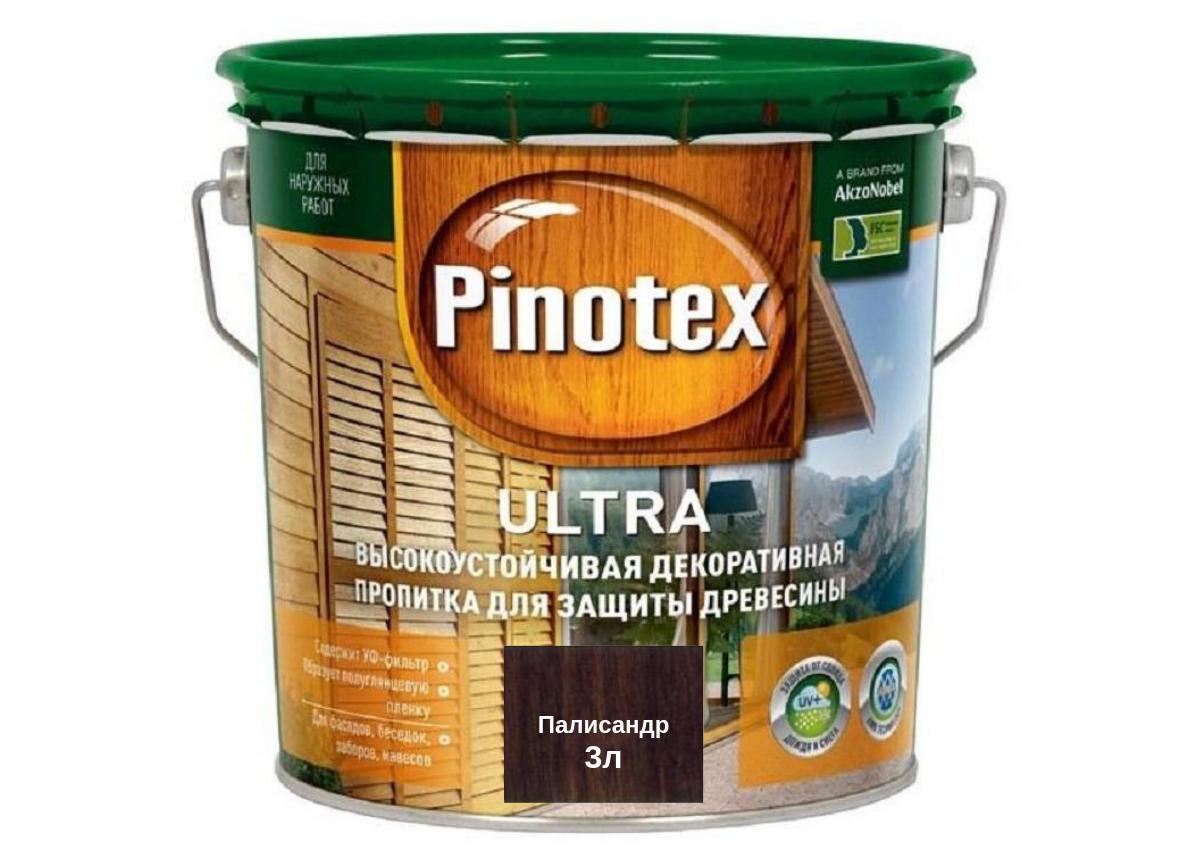 Деревозащитное средство Pinotex Ultra палисандр 3л