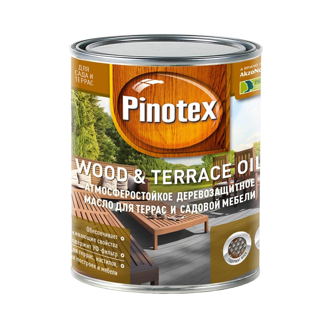 Масло для террас Pinotex Wood & Terrace Oil 1л