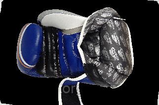 Боксерські рукавиці PowerPlay 3005 Сині 8 унцій, фото 3
