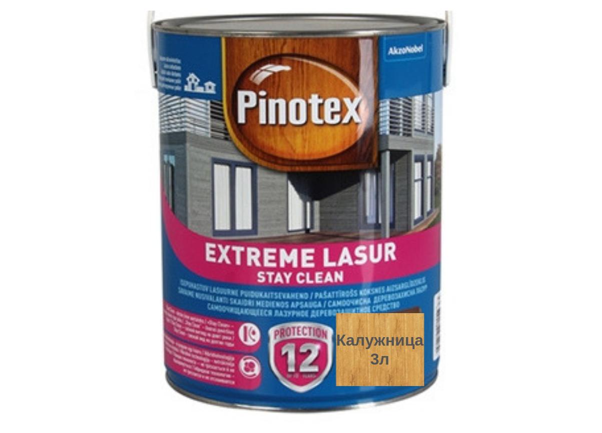 Самоочищающееся лазурное деревозащитное средство Pinotex Extreme Lasur 3л (Калужница)
