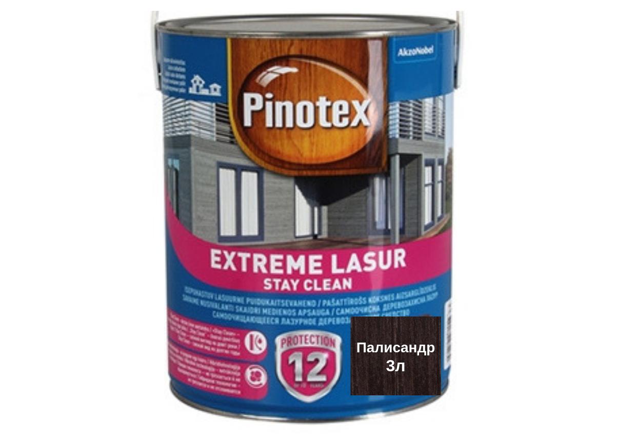 Самоочищающееся лазурное деревозащитное средство Pinotex Extreme Lasur 3л (Палисандр)