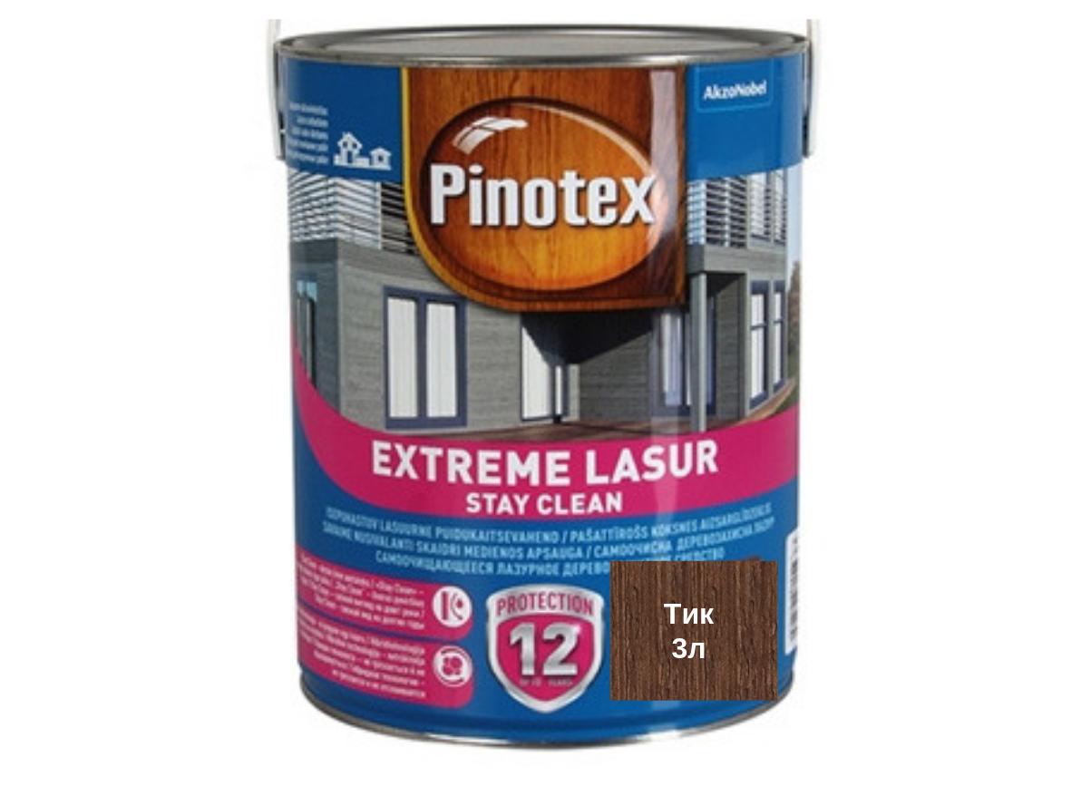 Самоочищающееся лазурное деревозащитное средство Pinotex Extreme Lasur 3л (Тик)