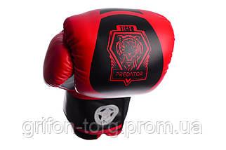 Боксерські рукавиці PowerPlay 3003 Червоно-Чорні 6 унцій, фото 3