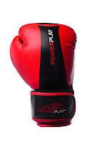 Боксерські рукавиці PowerPlay 3003 Червоно-Чорні 6 унцій, фото 2