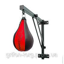 Пневмогруша боксерська PowerPlay 3061 Чорно-Червона M, фото 2