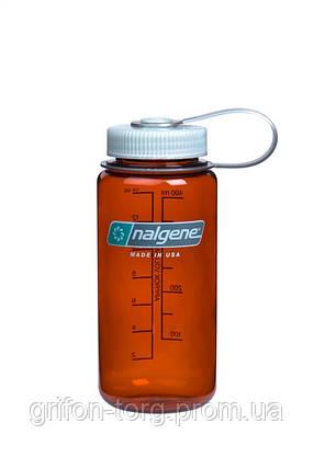 Пляшка для води Nalgene Wide Mounth Темно-Оранжева 500 мл., фото 2