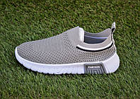 Детские кроссовки носки тканевые серые р31-35