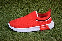 Детские кроссовки носки тканевые balenciaga красные р31-35