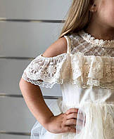 Платье детское нарядное летнее 116-122 см 6-7 лет