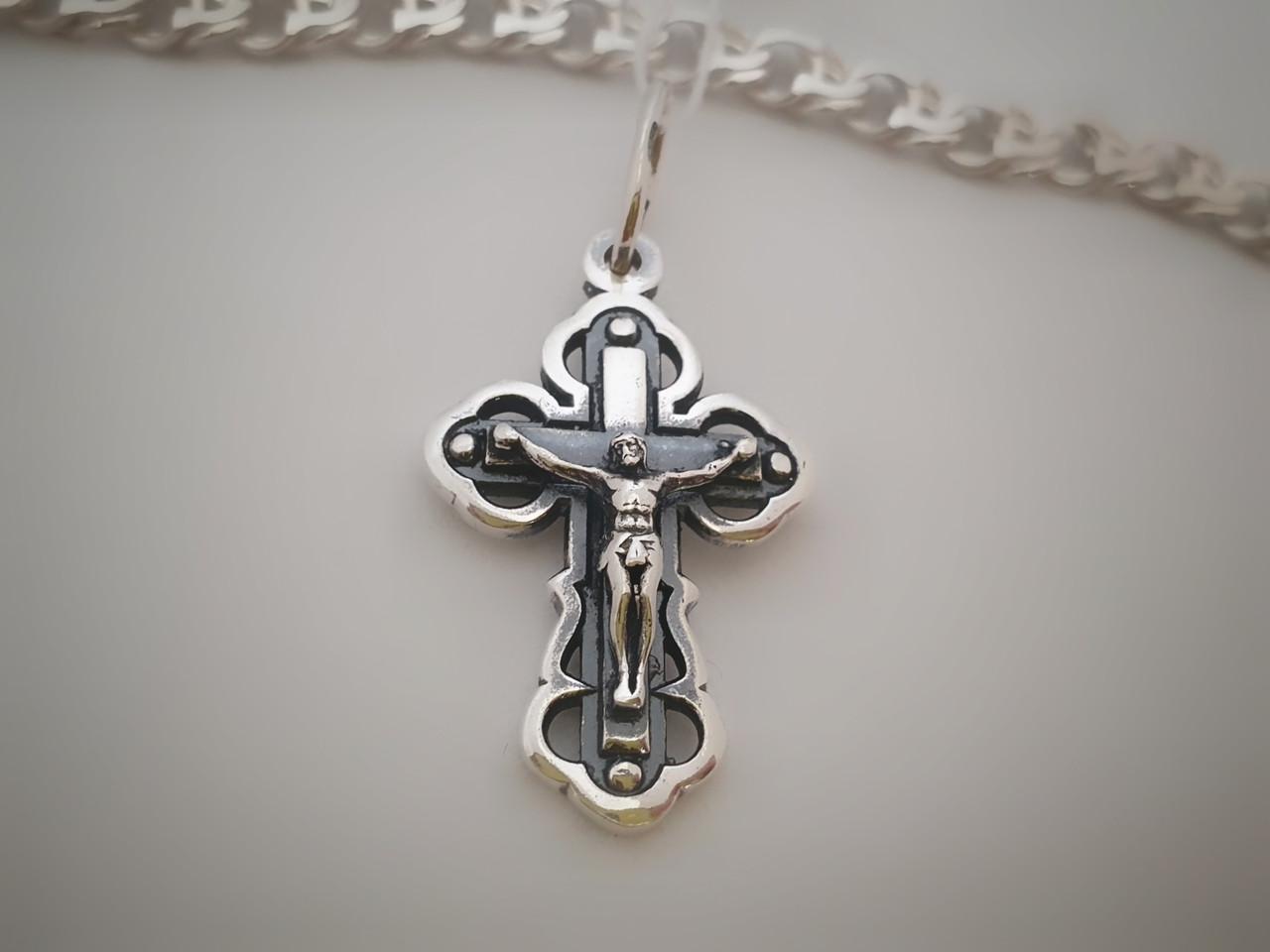 Серебряный православный крестик с распятием. Вес 3,6 гр. 925 проба
