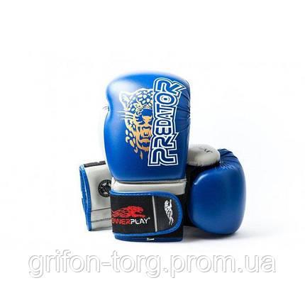 Боксерські рукавиці PowerPlay 3008 Сині 10 унцій, фото 2