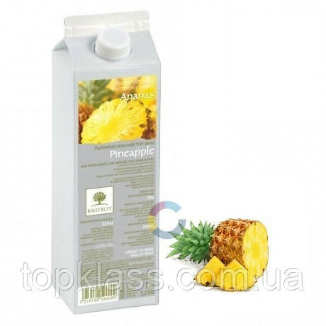 Ананас пюре пастеризоване 90% 1л, Ravifruit Франція