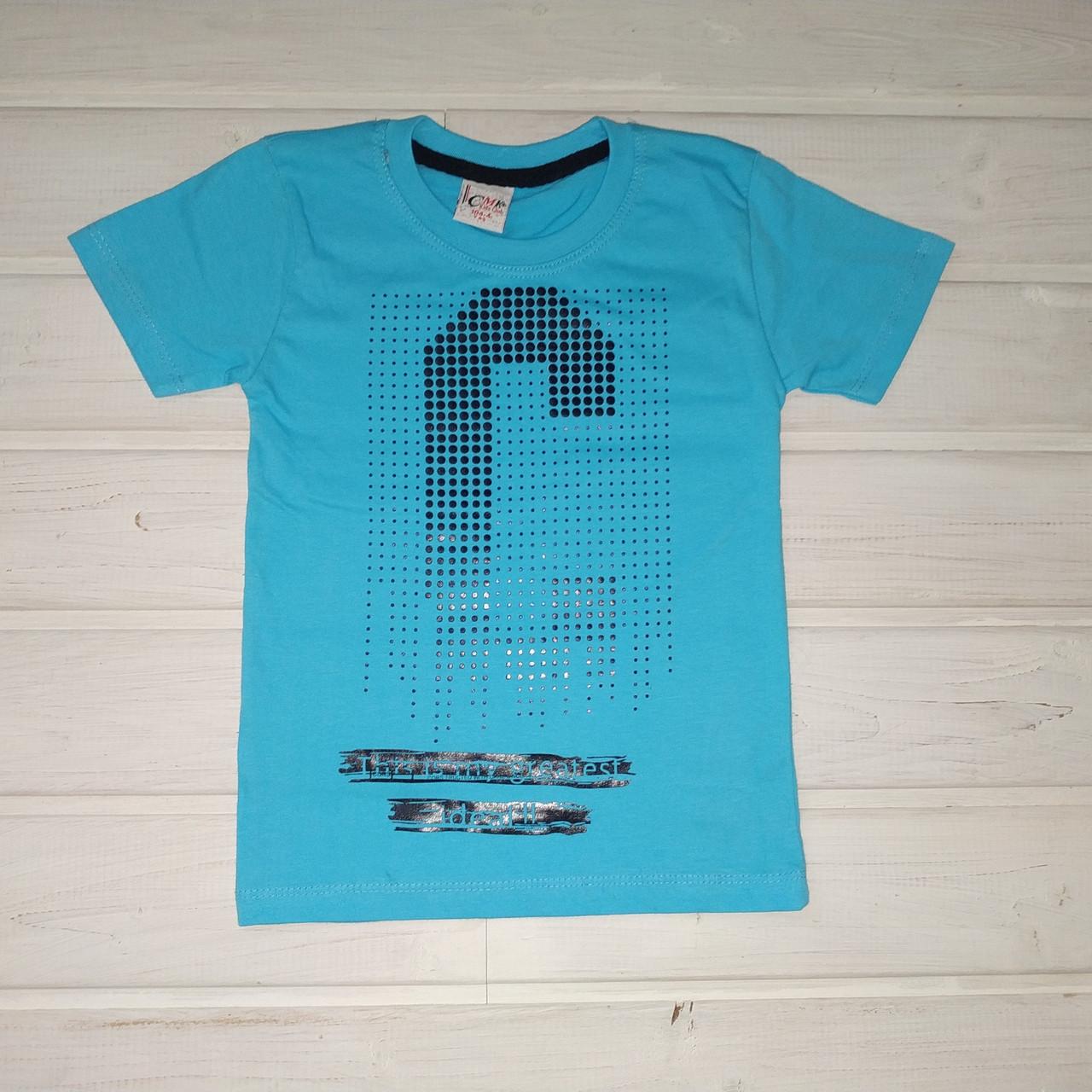 Футболка для мальчика синяя Размеры 110