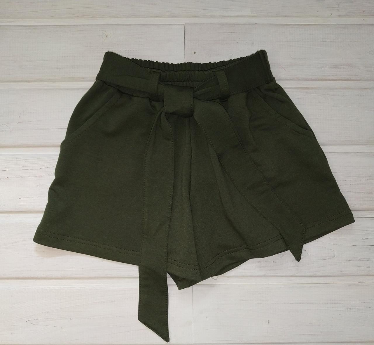 Шорты-юбка трикотажные для девочки Размеры 134 146