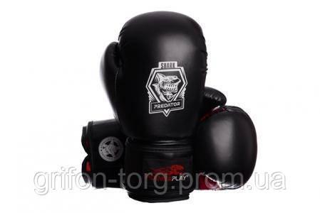 Боксерські рукавички PowerPlay 3001 Чорно-Червоні 14 унцій, фото 2