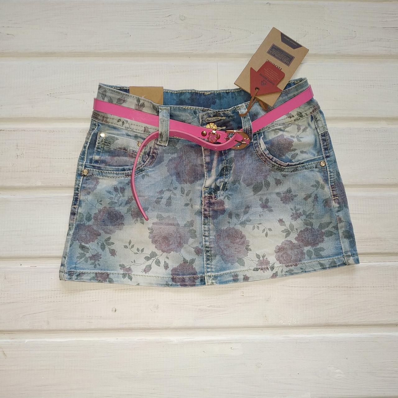 Джинсовая юбка для девочки Рост 140