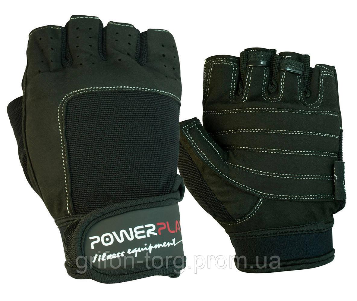 Рукавички для фітнесу PowerPlay 1588 D Чорні XL