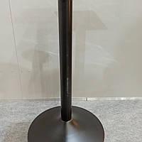 Ножка база опора для стола металлическая с круглой базой 400 мм, черная высота 720 мм