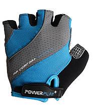 Велорукавички PowerPlay 5023 Блакитні M, фото 2