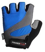 Велорукавички PowerPlay 5004 Сині L, фото 2