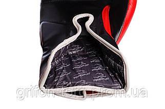 Боксерські рукавички PowerPlay 3021-1 Poland червоно-чорні 10 унцій, фото 2