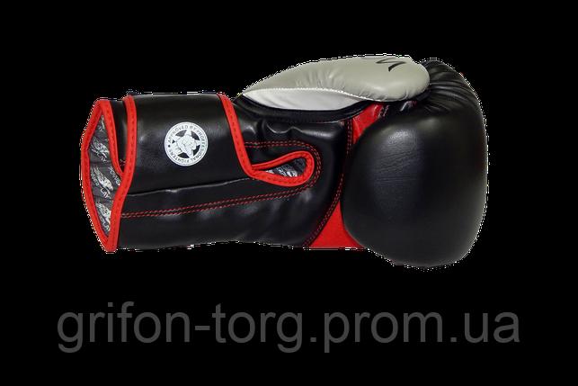Боксерські рукавиці PowerPlay 3006 Чорні 8 унцій, фото 2