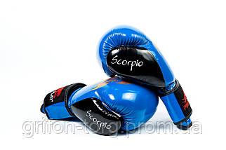 Боксерські рукавиці PowerPlay 3007 Сині карбон 10 унцій, фото 2