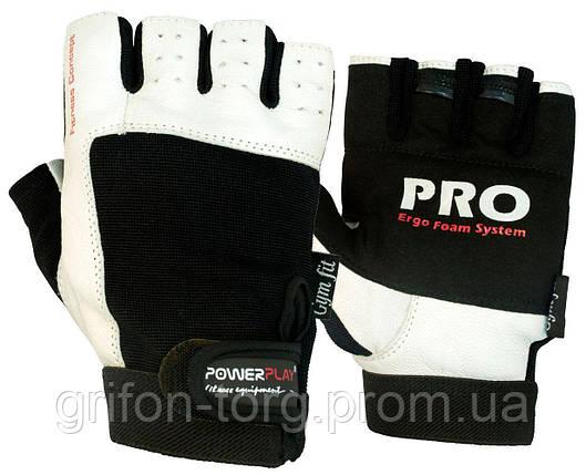 Рукавички для фітнесу PowerPlay 1561 Чорно-Білі S, фото 2