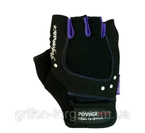 Рукавички для фітнесу PowerPlay 1751 жіночі Чорно-Фіолетові S, фото 2