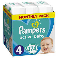 Подгузники Pampers Active Baby 4 (9-14кг) 174 шт.