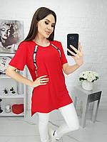 Стильная женская футболка красный