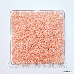 Бисер Крупный (6/0), Жемчужный, Некалиброванный, Цвет: Персик (50 грамм)