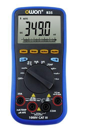 Цифровий мультиметр OWON B35+ Bluetooth, подсветка, термопара, фарады, частота, дисплей 5999, автоотключение