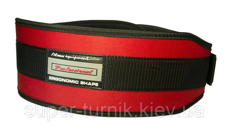 Пояс неопреновый для тяжелой атлетики PowerPlay 5535 красно-черный S, фото 2