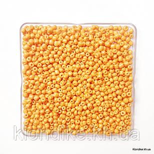 Бисер Крупный (6/0), Глянцевый, Некалиброванный, Цвет: Желто-оранжевый (50 грамм)