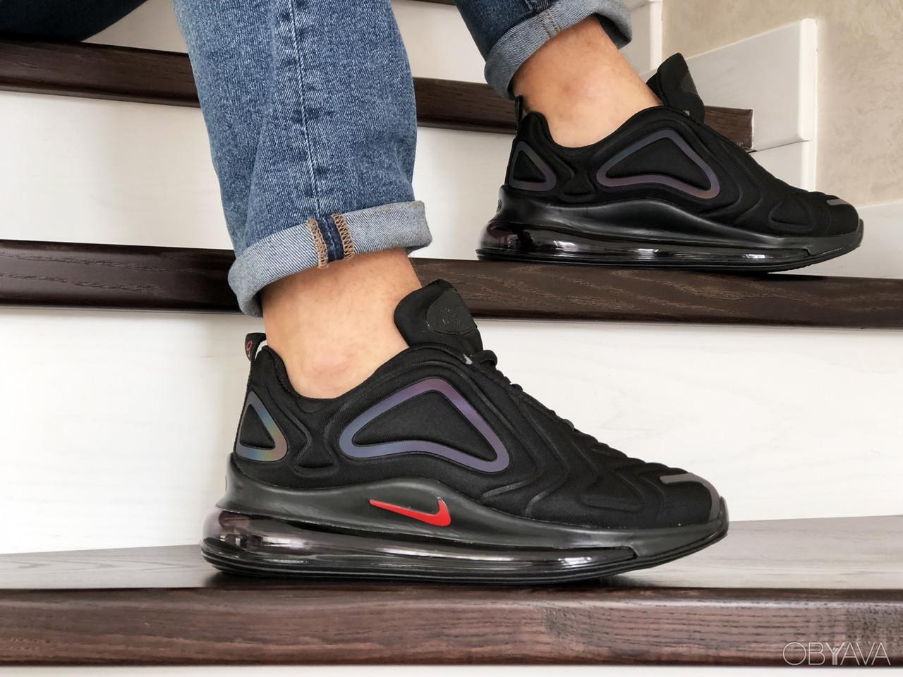 Мужские кроссовки Nike Air Max 720 в стиле найк аир макс черные (Реплика ААА+)