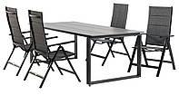 Комплект садовой мебели из алюминия (4 складных кресла + стол 215см)