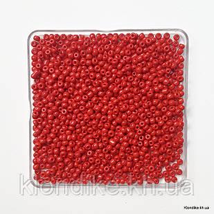 Бисер Крупный (6/0), Глянцевый, Некалиброванный, Цвет: Красный (50 грамм)