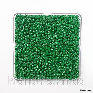 Бисер Крупный (6/0), Глянцевый, Некалиброванный, Цвет: Зеленый (50 грамм)