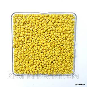 Бисер Крупный (6/0), Глянцевый, Некалиброванный, Цвет: Желтый (50 грамм)