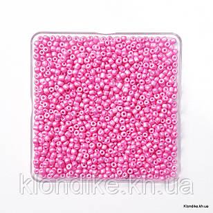 Бисер Крупный (6/0), Матовый, Перламутровый, Некалиброванный, Цвет: Ярко-розовый (50 грамм)